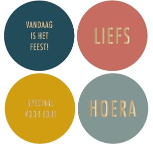 Stickers Multi colour goud Nederlands
