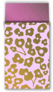 Cadeauzakjes Wild flower pink/gold 12 x 19