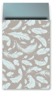 Cadeauzakjes Falling feathers grey-petrol 17 x 25