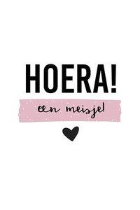 Ansichtkaart Hoera! een meisje!