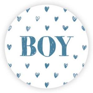 Sticker BOY hartjes