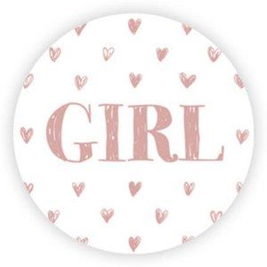 Sticker GIRL hartjes