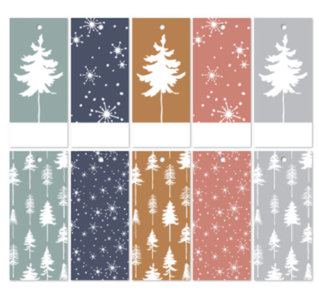 Cadeaulabels Lovely trees assorti