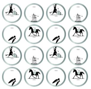 Stickers Sinterklaas kapoentje assorti zilver