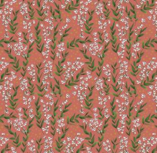 Cadeauzakjes Winter flowers red 12 x 19