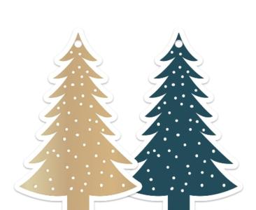 Cadeaulabel Kerstboom Petrol