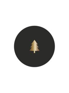 Sluitzegel boompje zwart/goud