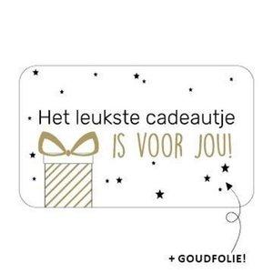Sticker Het leukste cadeautje is voor jou!
