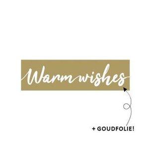 Sticker Warm wishes goud