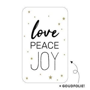 Sticker Love peace joy