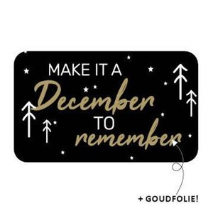 Sticker Make it a december to remember