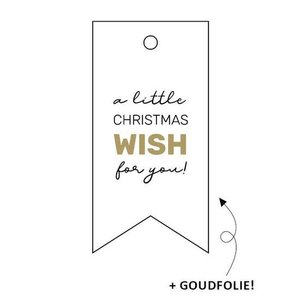 Cadeaulabel A little christmas wish for you!