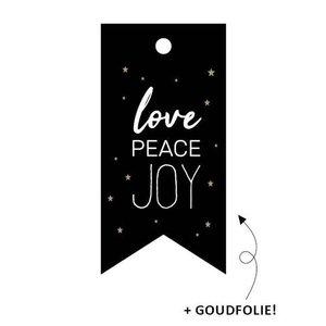 Cadeaulabel Love peace joy