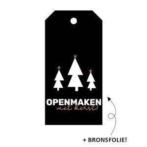Cadeaulabel Openmaken met kerst!