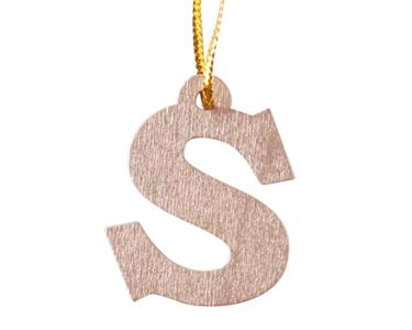 Hanger letter 'S' goud