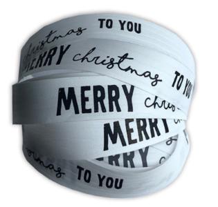 Krullint Merry Christmas to you wit/zwart