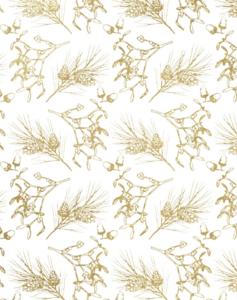 Vloeipapier Winter botanical gold