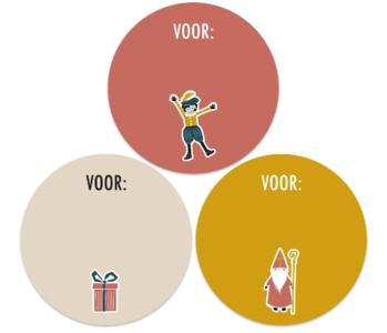 Stickers Sint Icoon assorti