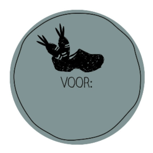 Sticker Sinterklaas klompje