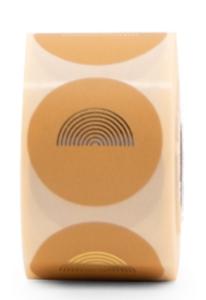 Stickers Rainbow round light honey