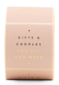 Stickers Gifts and cuddles are all you need light pink