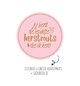 Sticker Kerstmuts