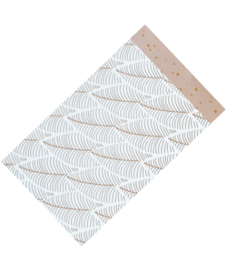 Cadeauzakjes metallic confetti pink/copper - leaves  12 x 19