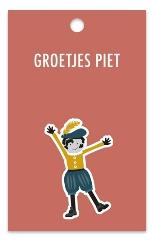 Cadeaulabel Groetjes Piet