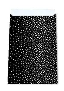Cadeauzakjes Little dots black 12 x 19