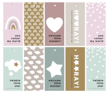 Cadeaulabels Newborn mixed
