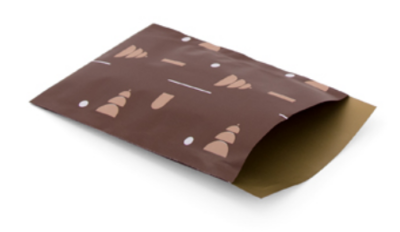 Cadeauzakjes Shapes of Christmas chocolat brown 12 x 19