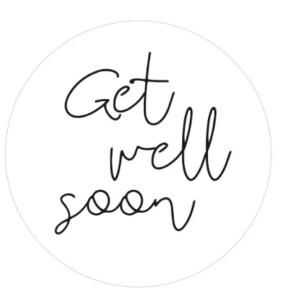 Sticker Get well soon