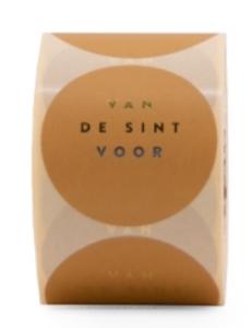 Sticker Van de sint voor Light honey/gold