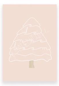 Ansichtkaart O denneboom roze