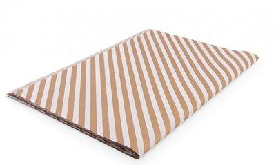 Vloeipapier Diagonal stripes bronze