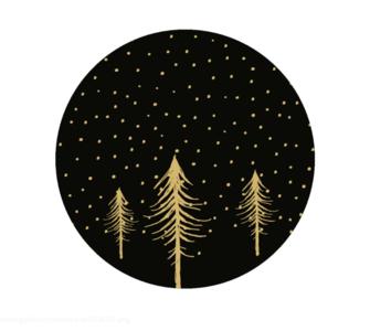 Sticker Christmas tree black/gold