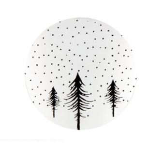Sticker Christmas tree white/black