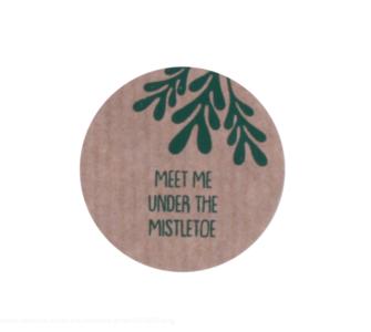 Sticker Meet me under the mistletoe kraft/groen