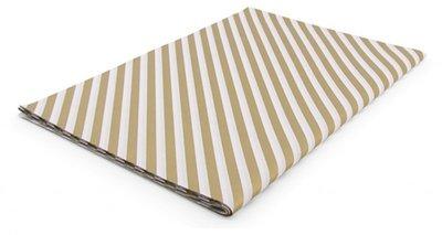 Vloeipapier Diagonal stripes gold