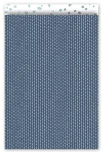 Cadeauzakjes Connecting dots diepblauw 17 x 25