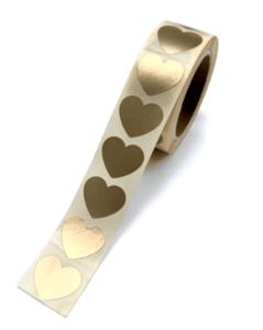 Stickers Mini hearts gold