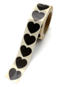 Stickers Mini hearts black