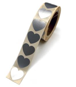 Stickers Mini hearts silver