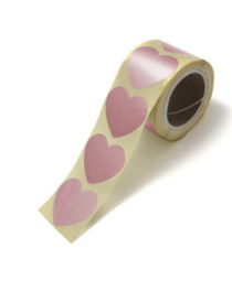 Stickers Mini hearts rose golden