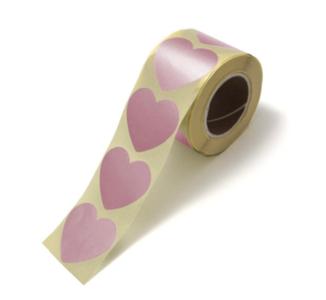 Sticker hart xl rose golden