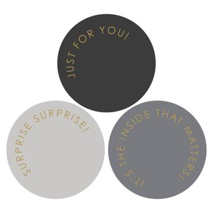 Stickers Modern grey-gold
