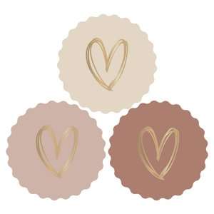 Stickers Hearts nude/gold