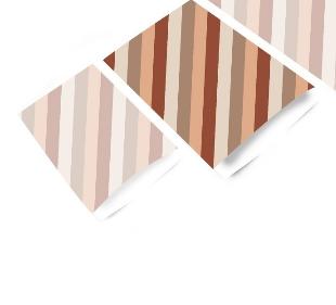 Cadeauzakjes Diagonal stripes terra 17 x 25