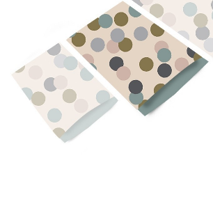 Cadeauzakjes Big confetti beige 17 x 25