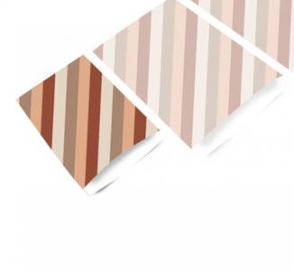 Cadeauzakjes Diagonal stripes terra 12 x 19